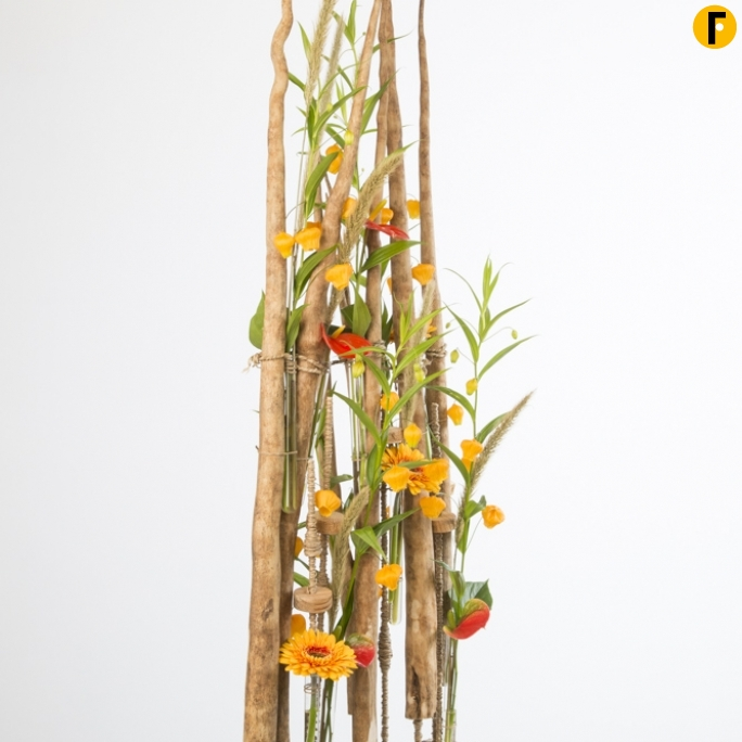 tall wood design david ragg flower factor totaal