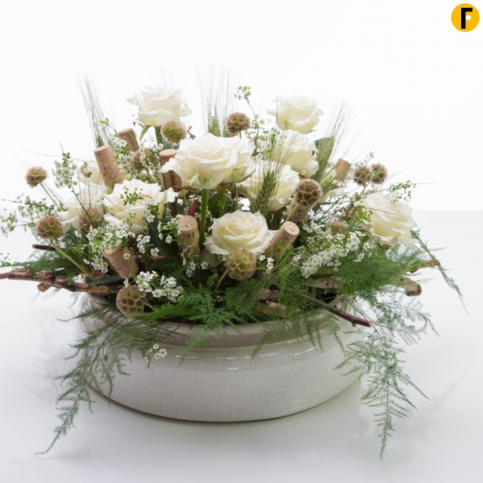 white soda design by David Ragg for Flower Factor